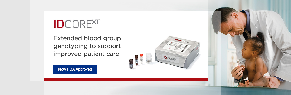 ID COR XT - Now FDA Approved, for extended blood group typing
