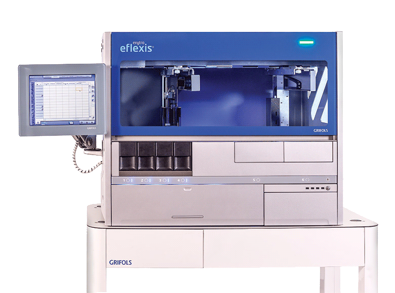 Erytra Eflexis Automated Blood Typing System Dg Gel